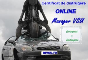 Certificat distrugere Manager VSU