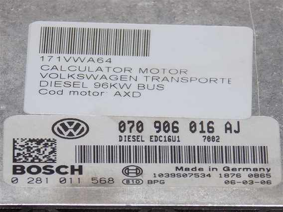 CALCULATOR MOTOR Volkswagen Transporter diesel 2007 - Poza 2