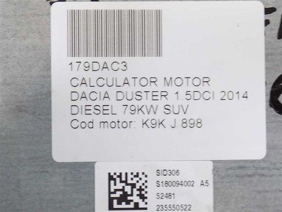 CALCULATOR MOTOR Dacia Duster diesel 2014 - Poza 4