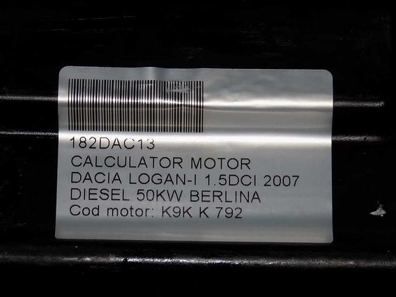 CALCULATOR MOTOR Dacia Logan-I diesel 2007 - Poza 4