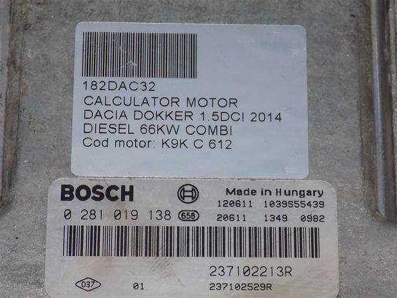CALCULATOR MOTOR Dacia Dokker diesel 2014 - Poza 3