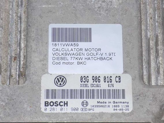 CALCULATOR MOTOR Volkswagen Golf-V diesel 2004 - Poza 3