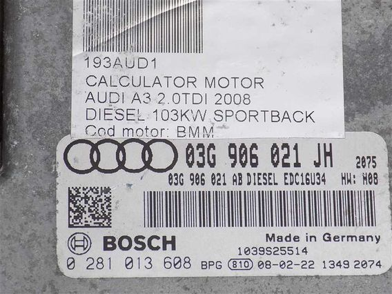 CALCULATOR MOTOR Audi A3 diesel 2008 - Poza 3