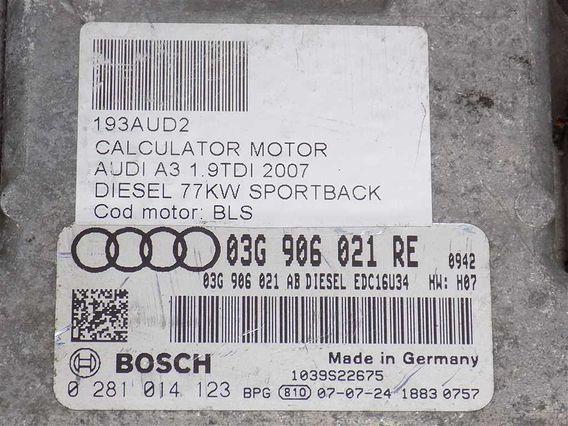 CALCULATOR MOTOR Audi A3 diesel 2007 - Poza 3
