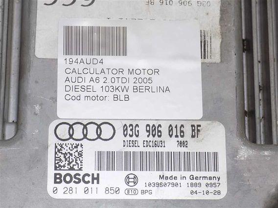 CALCULATOR MOTOR Audi A6 diesel 2005 - Poza 2