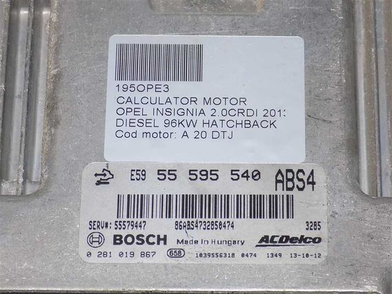 CALCULATOR MOTOR Opel Insignia diesel 2013 - Poza 3