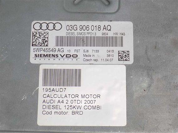 CALCULATOR MOTOR Audi A4 diesel 2007 - Poza 3