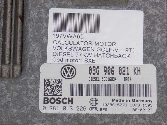 CALCULATOR MOTOR Volkswagen Golf-V diesel 2006 - Poza 3