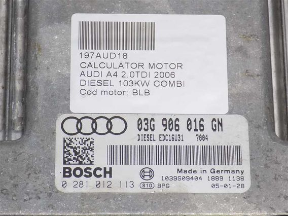 CALCULATOR MOTOR Audi A4 diesel 2006 - Poza 3