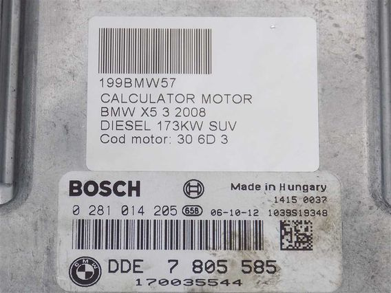 CALCULATOR MOTOR BMW X5 diesel 2008 - Poza 3